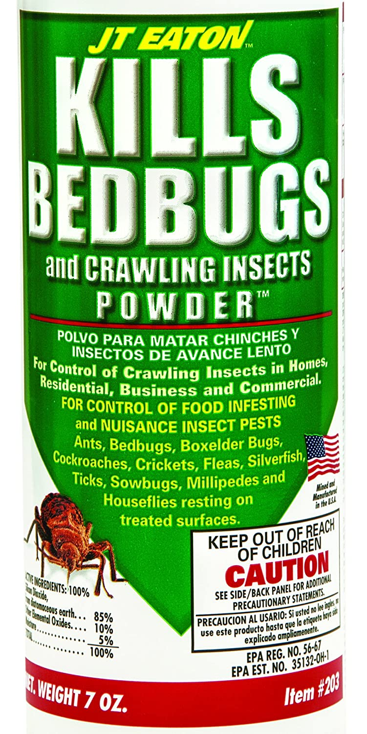 Jt Eaton 203 Bedbug And Crawling Insect Powder With Diatomaceous Earth 7 Ounce Bottle