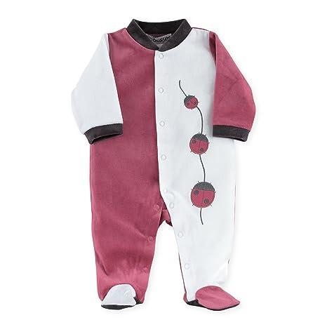 Diseño oso grenouillères Pijama Mariquita Bebé Niña Color Rosa rosa Lie De Vin Talla