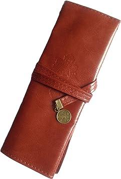 DDLBiz estuche Vintage de piel para lápices y bolígrafos, marrón: Amazon.es: Bricolaje y herramientas