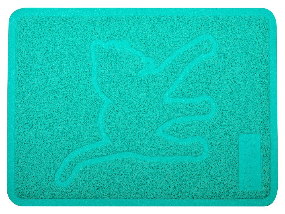 DM Lettiera per Gatto Pet Mat, Kitty Litter Tappeto, zerbino, Forma Rettangolare, 48,3 x 35,6 cm, Turchese 3x 35 6cm