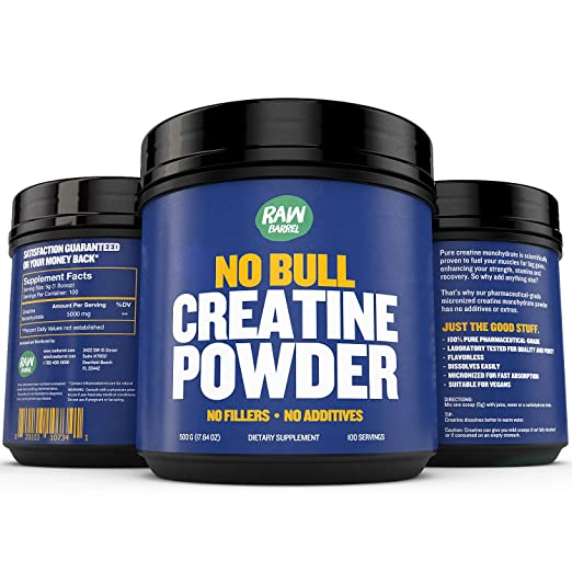 Product thumbnail for Raw Barrel's Pure Creatine Monohydrate Powder