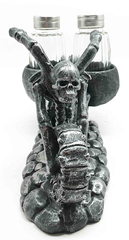 Biker Skull Hell Chopper Skeleton Motorbike Salt Pepper Snake Diagram Rattlesnake By Shakers Holder Home Kitchen