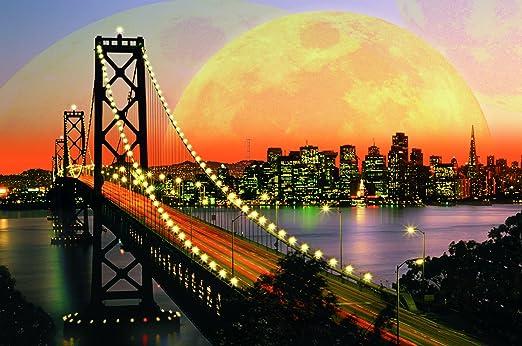 Ravensburger Puzzle Puzzles San Francisco Oakland Bay Bridge bei Nacht Skyline Puzzles & Geduldspiele