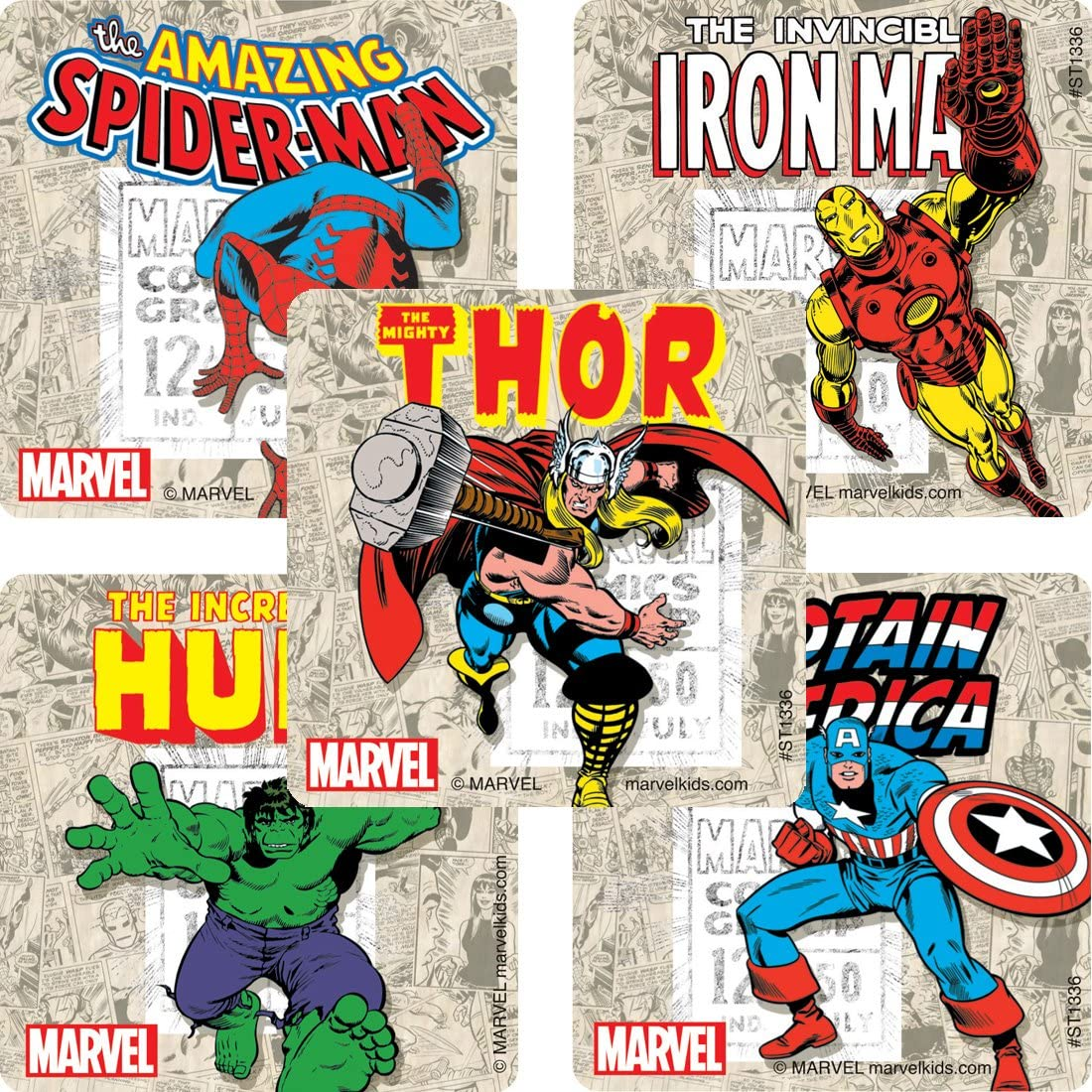 Prizes 100 per Pack SmileMakers Inc Marvel Comics Stickers