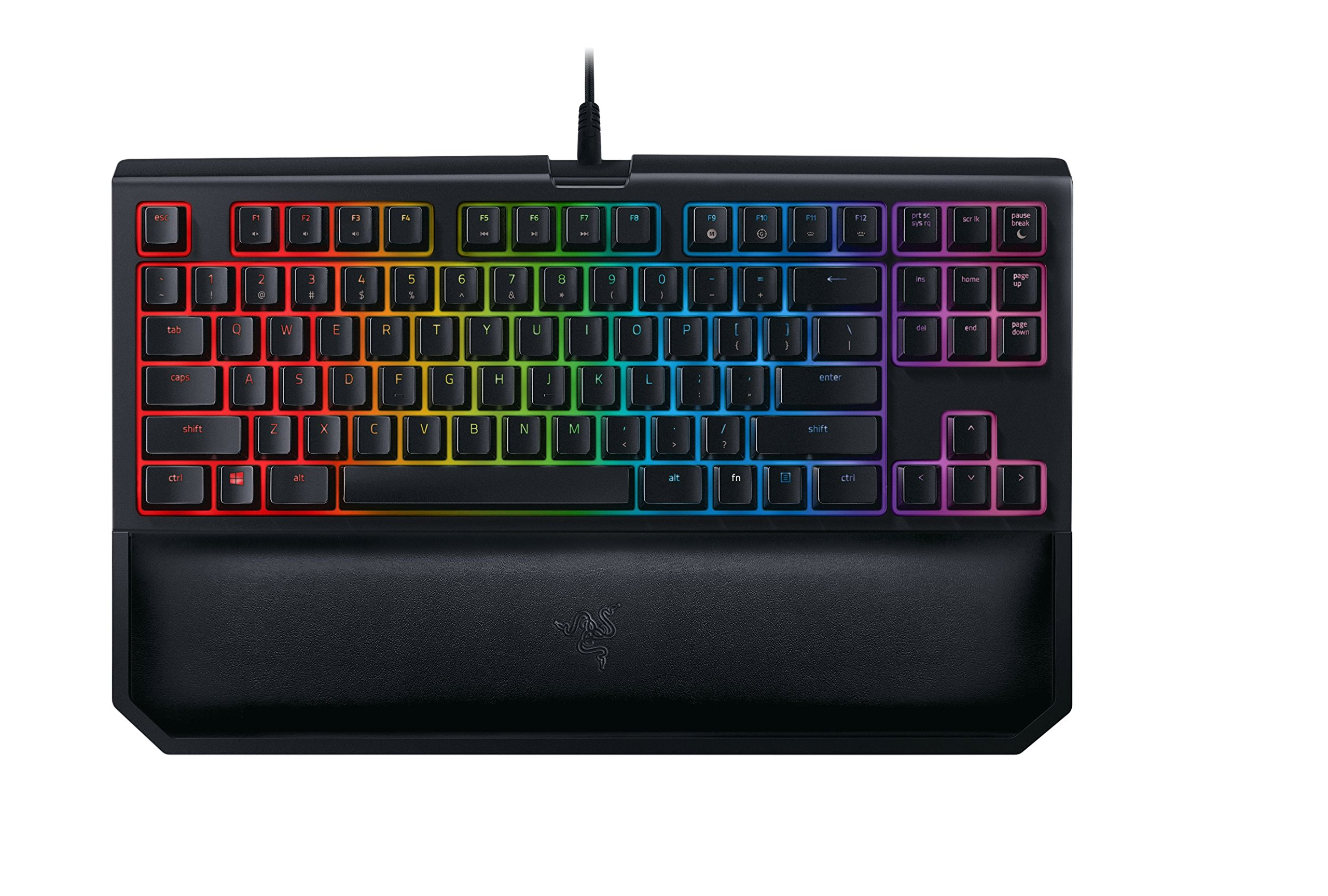 Razer BlackWidow TE Chroma v2 Mechanical Gaming Keyboard: Green Key Switches - Tactile & Clicky - Chroma RGB Lighting - Magnetic Wrist Rest - Programmable Macro Functionality - Classic Black