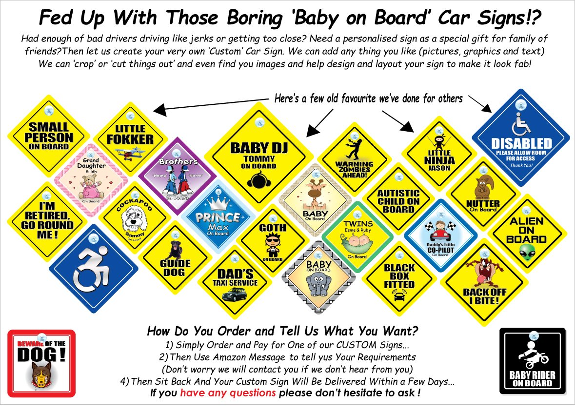 Child Vehicle Sign Infant Decal Child in Vehicle Baby on Board Sign Suction Cup Car Sign Daddys Little Girl On Board Sign