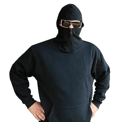 Ninja Hoodie kaputzen - Sudadera con pasamontañas negro ...