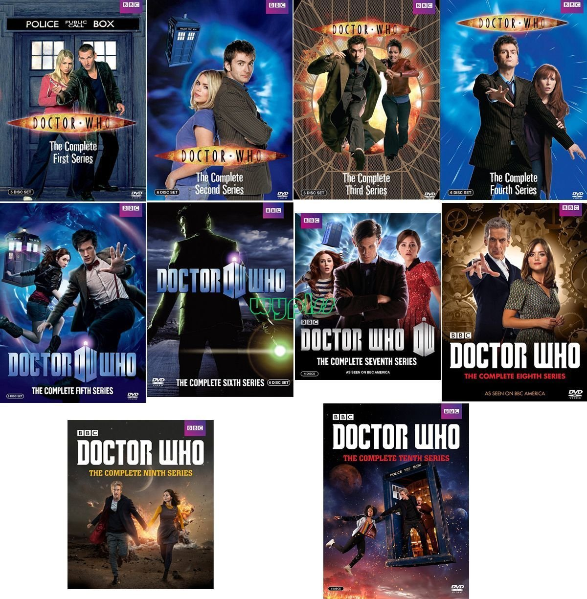 Doctor Who -The Complete Series Collection, DVD (Series Seasons 1-10 DVD 55-Disc Set, 1,2,3,4,5,6,7,8,9,10 Bundle) USA Format Region 1