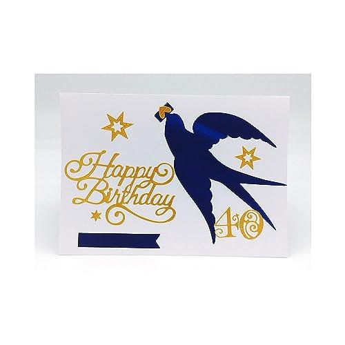 Carte Anniversaire 40 Ans Carte 30 Ans Carte D Anniversaire 40 Ans Carte Joyeux Anniversaire 50 Ans Carte De Voeux Carte Anniversaire Carte 21 X 14 8 Cm Avec Enveloppe Amazon Fr Handmade