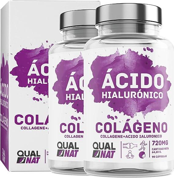 Colágeno Marino con Ácido Hialurónico Cápsulas | Vitamina C| Para Una Piel Radiante y Un Buen Mantenimiento de las Articulaciones – 180 Cápsulas - Qualnat: Amazon.es: Salud y cuidado personal