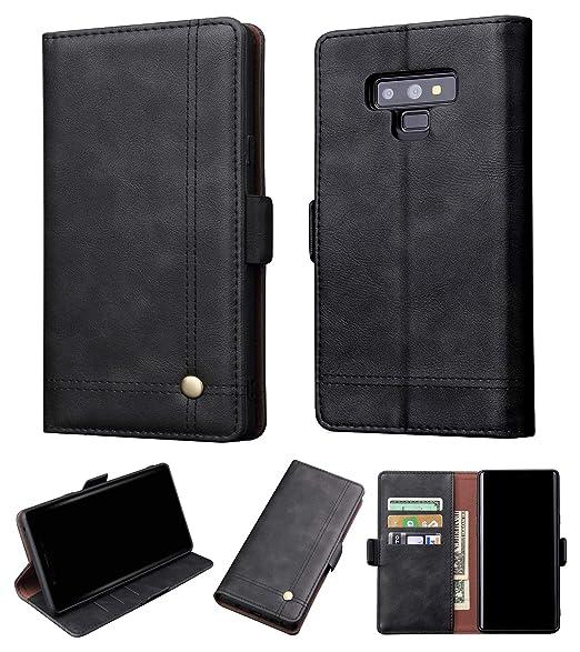 size 40 b710d 00c76 Amazon.com: Galaxy Note 9 Wallet Case - Premium Leather Wallet Case ...