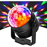 JYX Sound Activated Dicso Light, USB DJ Light, Disco Ball, Strobe Lamp 7 Modes Stage Par Light for Home Room Dance Parties Bi