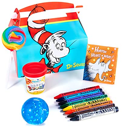 Amazoncom Dr Seuss Party Supplies Filled Favor Box Toys Games