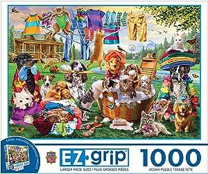 MasterPieces Laundry Day Rascals 1000-Piece EZ Grip Jigsaw Puzzle