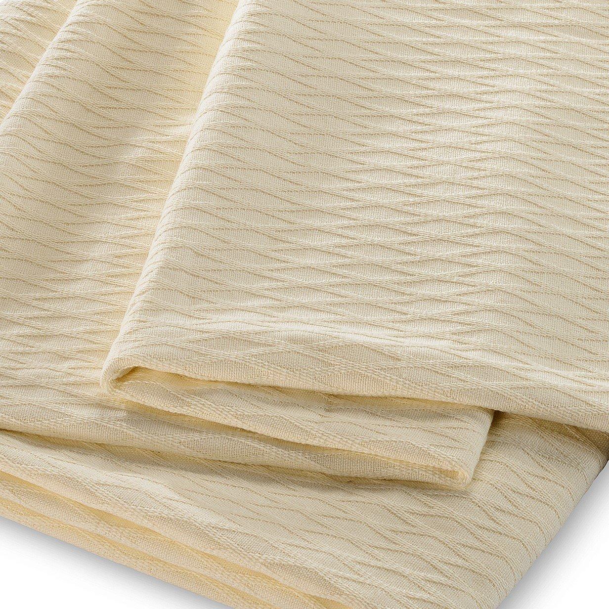 Aqua All Season Luxurious 100/% Cotton Blanket Twin//Twin XL