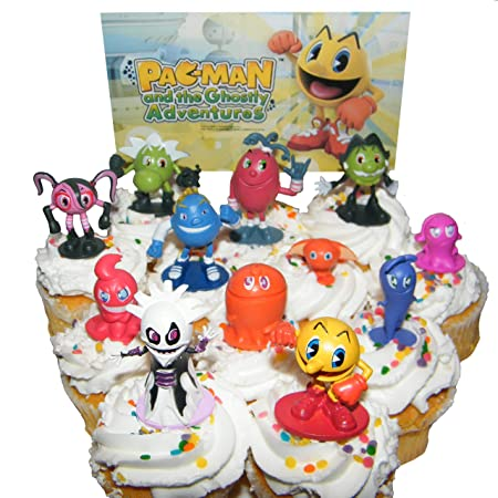Pac Man And The Ghostly Adventures Deluxe Mini Cake Toppers Cupcake Decorations Set Of 12