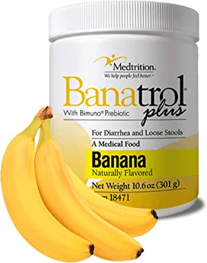 Banatrol® - Natural Anti-Diarrhea Relief, Kids and Adults, for IBS, Antibiotic Use, Food Poisoning and Chemotherapy (Banana)