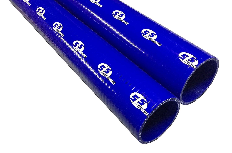 SFSストレートシリコンホース57mm内径1000mm長 ブルー SHL57BL B01N4DFSKI 内径57mm  長さ1000mm ブルー ブルー 内径57mm  長さ1000mm