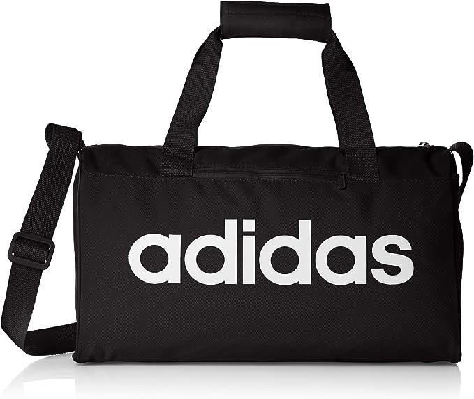 adidas Lin Core Duf XS Bolsa Lona de Deporte, Unisex Adulto, Black/Black/White, NS: Amazon.es: Deportes y aire libre