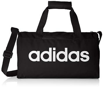 Amazon.com | Adidas Training Essential Linear Core Dufel Bag ...