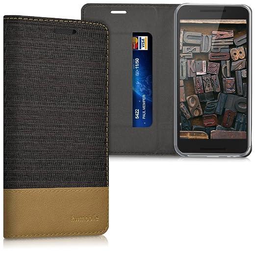 25 opinioni per kwmobile Cover Flip per LG Google Nexus 5X- Custodia a libro protettiva per