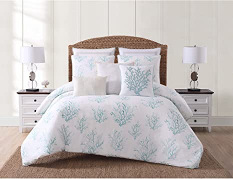 Amazon Com Oceanfront Resort Cs2359sffq 1500 3 Piece Comforter Set Full Queen Cove Seafoam Home Kitchen