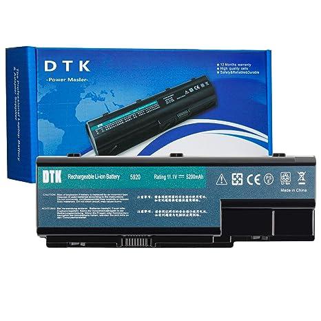 DTK PC Portátil Batería de Repuesto para Acer Aspire AS07B71 AS07B51 AS07B52 AS07B41 AS07B42 AS07b31 AS07b32 AS07b72 AS07b61 8930g 7720g 6930g 5920 (11.1V 4400mAh)