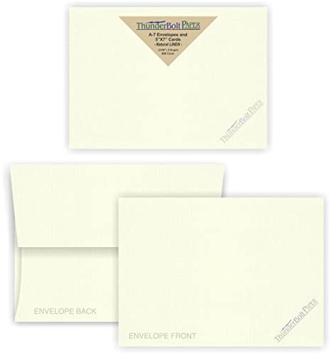 amazon com 5x7 blank cards with a 7 envelopes natural white