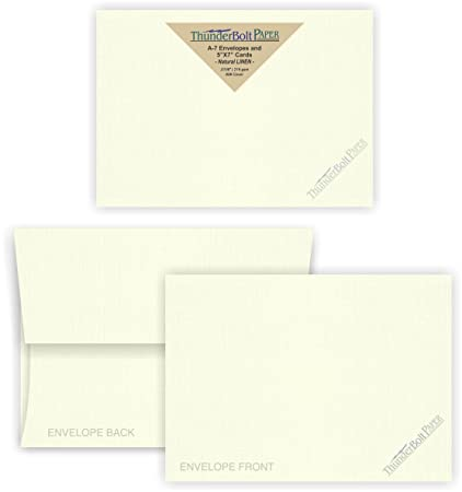Amazoncom 5X7 Blank Cards with A7 Envelopes Natural White