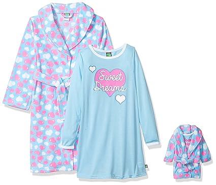 Amazon.com  Dollie   Me Girls  Big Robe with Matching Gown Sleepwear ... d5779ab89