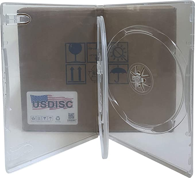 Triple 3 Disc Pack of 100 USDISC CD Jewel Cases Standard 10.4mm Clear