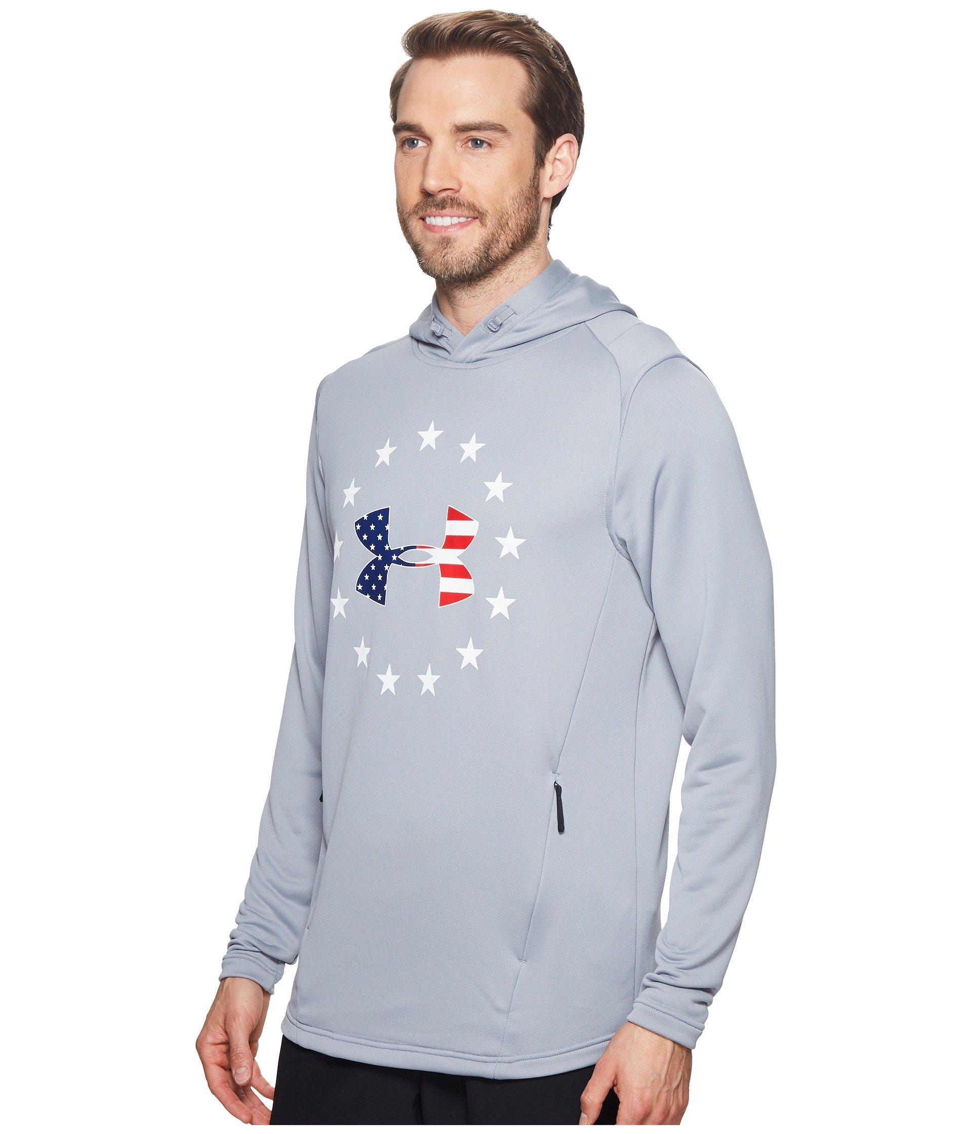 Under Armour Boys Terry Freedom Hoodie 1323171 UA Kids Sweatshirt Grey Youth New