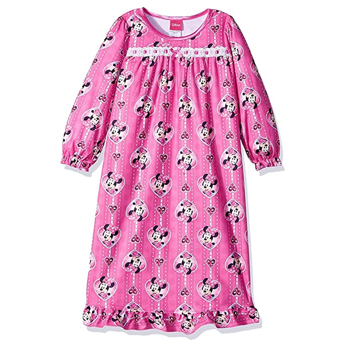 Amazon.com  Disney Minnie Mouse Toddler Girls Flannel Granny Gown ... 4346edc00