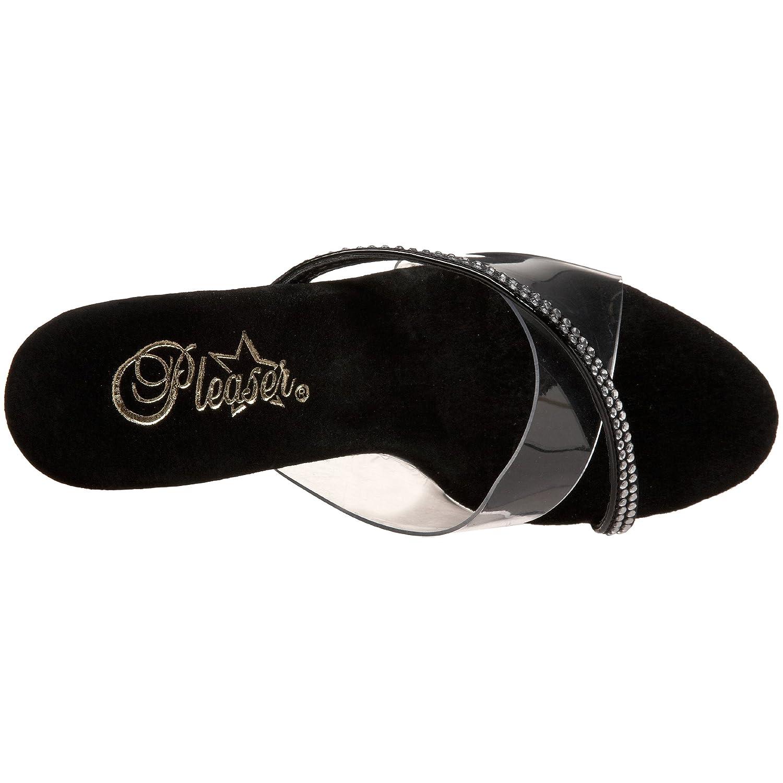 Pleaser Women's 12 Sky-303 Platform Sandal B0013JORK6 12 Women's B(M) US|Clear/Black Patent 49b183