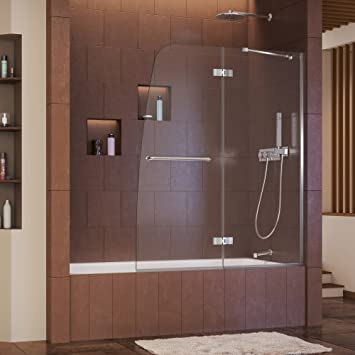 with x levity tub p door sliding l frameless handle kohler semi in nickel bathtub nx doors