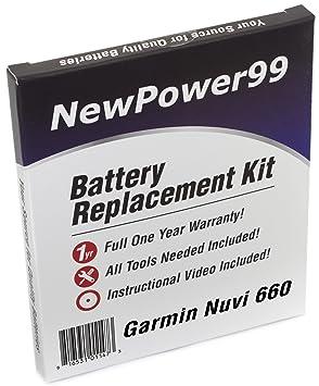 Kit de Reemplazo de la Batería para el Garmin Nuvi 660 GPS ...