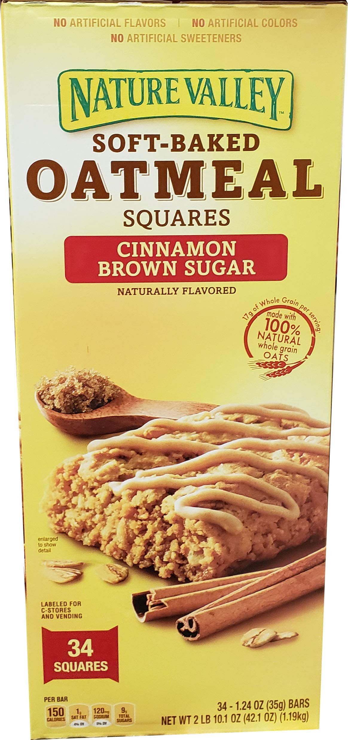 Nature Valley Nature Valley Soft Baked Oatmeal Squares 34 x 1.24 Oz Net Wt 42.1 Oz, 42.1 oz by Nature Valley
