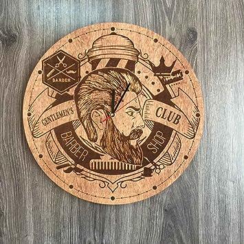 Barber Shop reloj de pared de madera – perfecto y muy bien corte – Decora tu