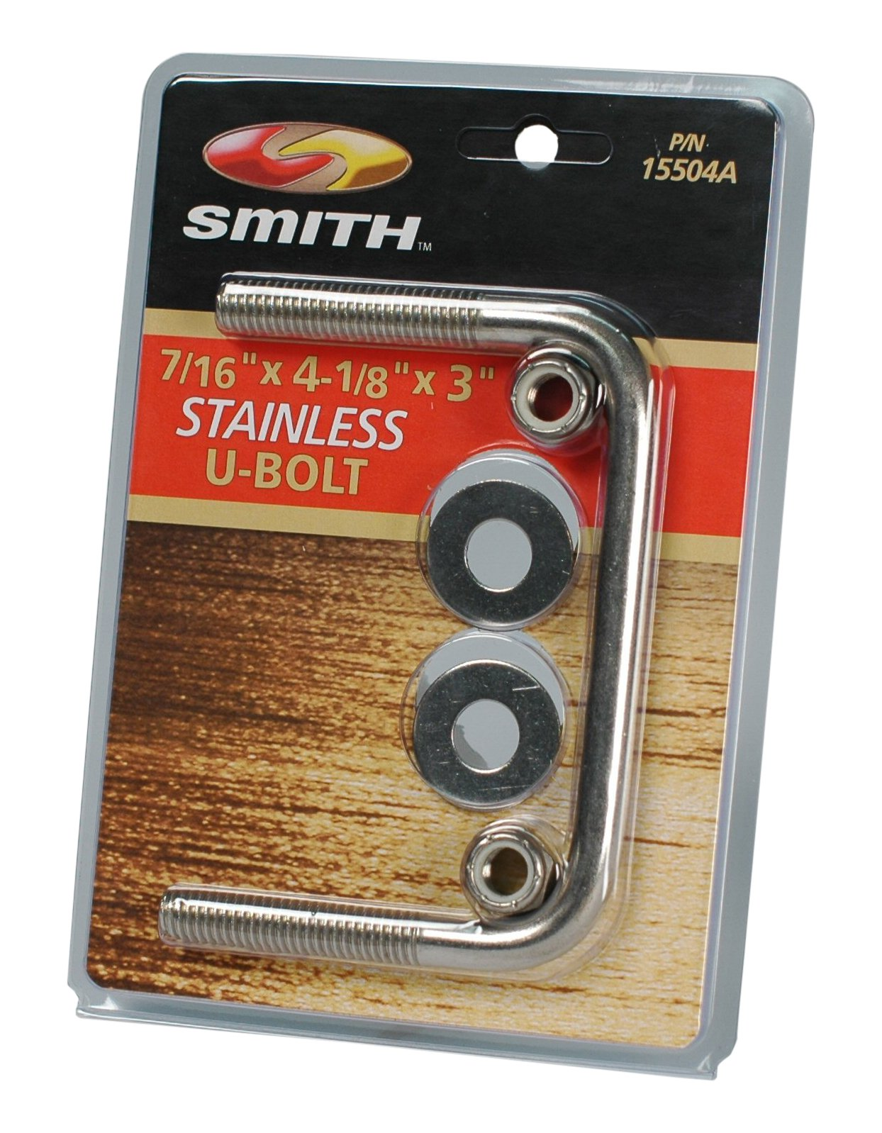 CE Smith Trailer 15502A Square U-Bolt with Washers & Nuts, 7/16'' x 4-1/8'' x 3''- Replacement Parts and Accessories for Your Ski Boat, Fishing Boat or Sailboat Trailer
