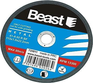 Disco de Corte para Metal/Acero 115 x 1 mm. Amoladora (Caja de 50 ...
