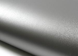 ROSEROSA Peel and Stick PVC Instant Metallic Decorative Self-Adhesive Covering Countertop Backsplash Soft Hair Line (MG236 : 2.00 Feet X 6.56 Feet)
