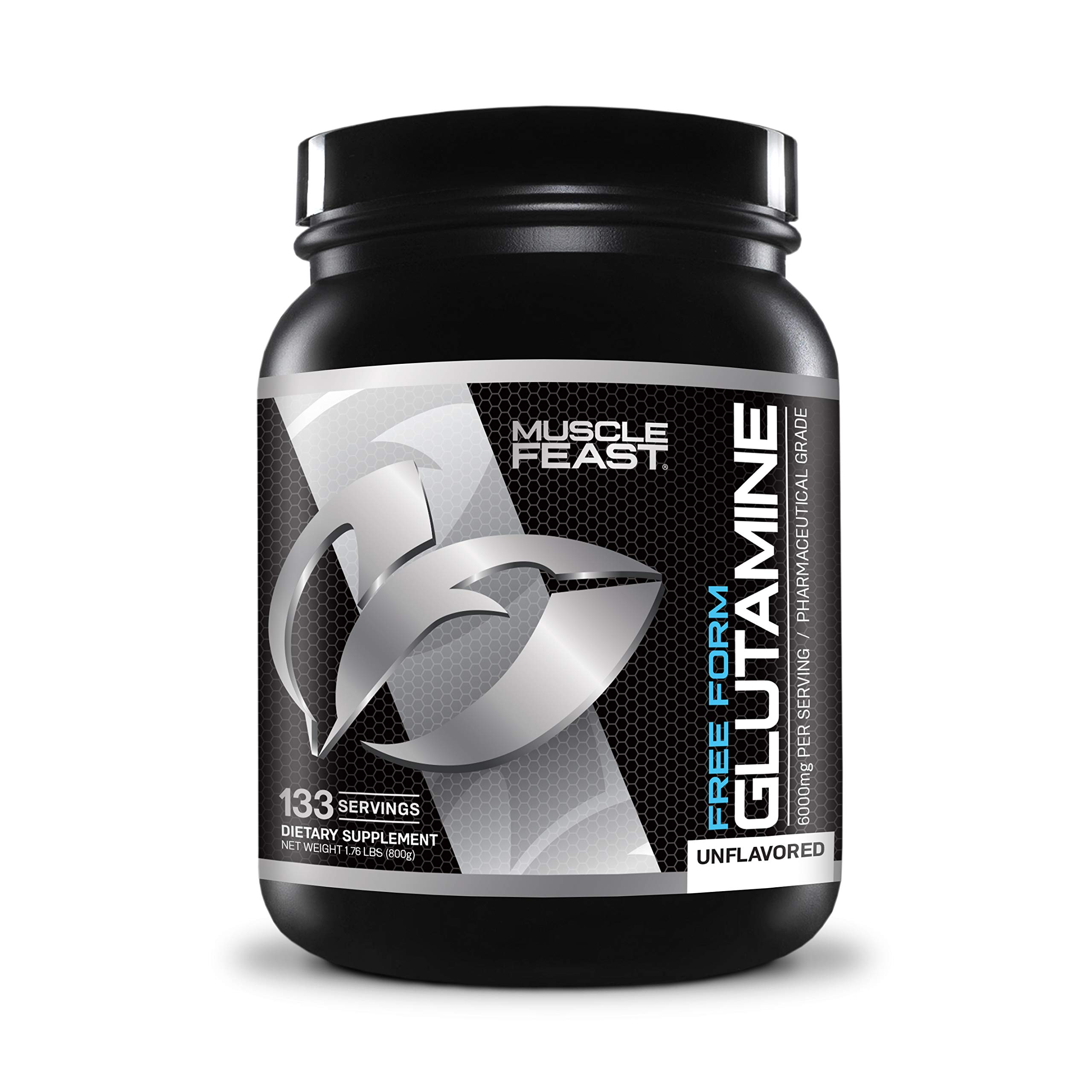 L-Glutamine Muscle Recovery Supplement - Muscle Feast - 800g Powder by Muscle Feast