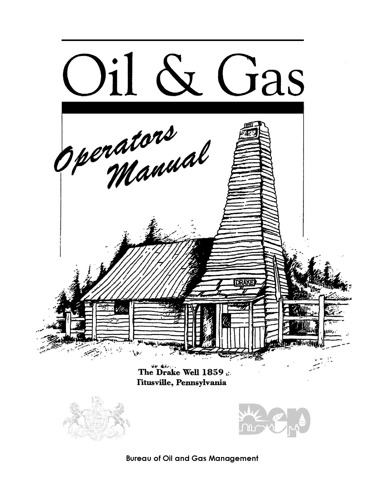 Pennsylvania Oil and Gas Operator's Manual 2001 with Appendices pdf