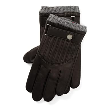 94bacf5acf345 Polo Ralph Lauren Men`s Quilted Leather Racing Gloves (RL Black (0039663653)