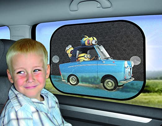 mnsaa010 Despicable Me Minions side car sunshades twin pack