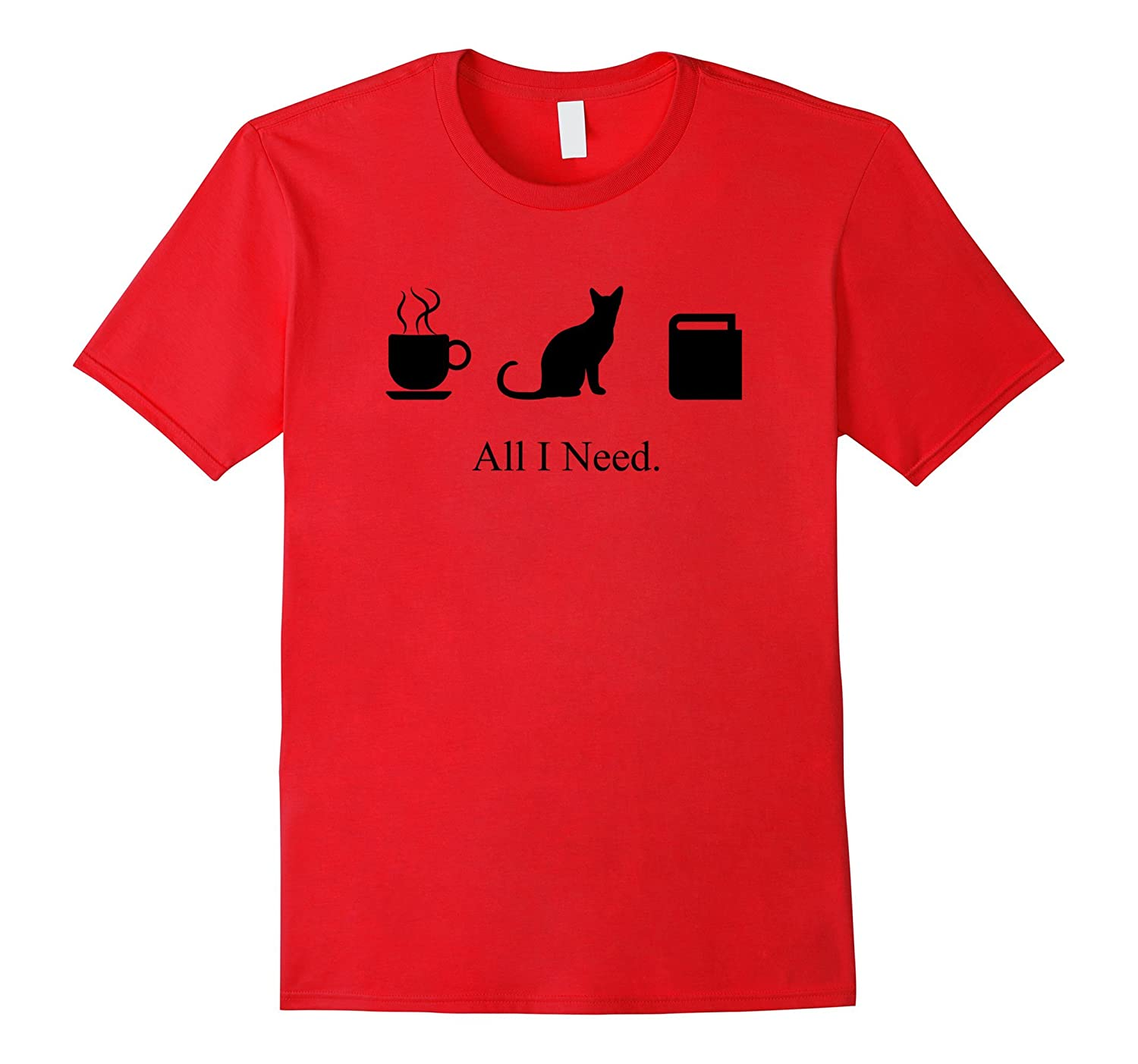 All I Need is Coffee, a Cat, and a Book to Relax T-Shirt