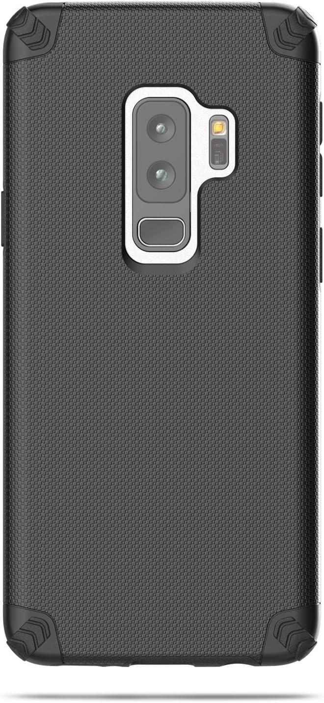 Nova Series Dual Layer Protective Case for Samsung S9+ 2018 Release Black ENCASED Galaxy S9 Plus Case,