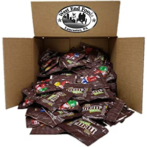 6 LB M&Ms Milk Chocolate Candy Bags Fun Size Individually Wrapped Snacks Pack