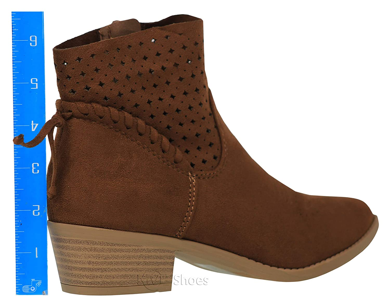 61ef4489d4181 Amazon.com | Classified Shoes Women's Low Stacked Heel Closed Toe Casual  Western Bootie Bus | Boots
