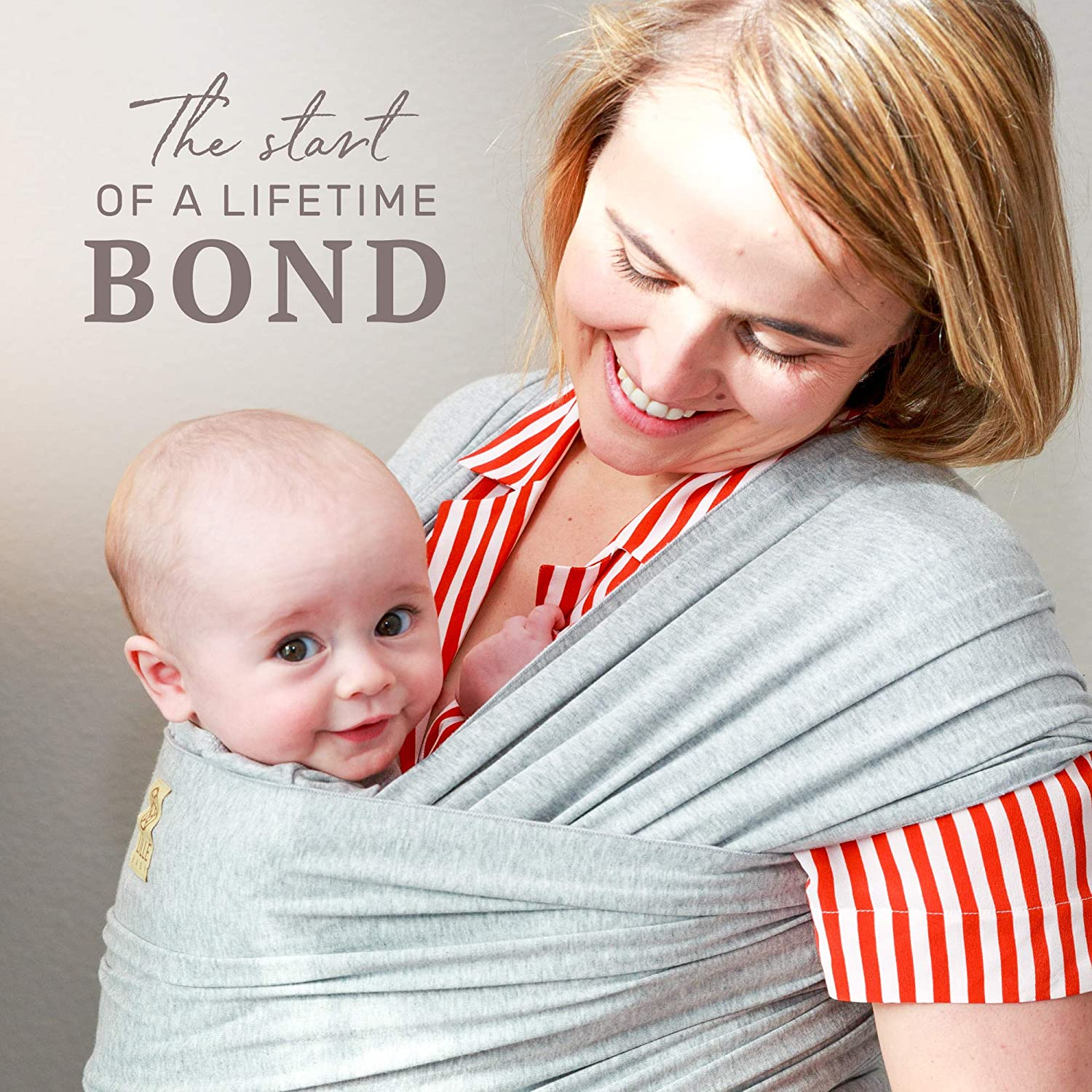 L LL baby Tie The Knot Wrap II, Heather Grey – Baby Carrier Wrap, Comfortable and Ergonomic, Multi-Position Carrying for Infants Babies Toddlers